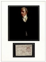 Prime Minister Robert Jenkinson, Earl of Liverpool Autograph Display